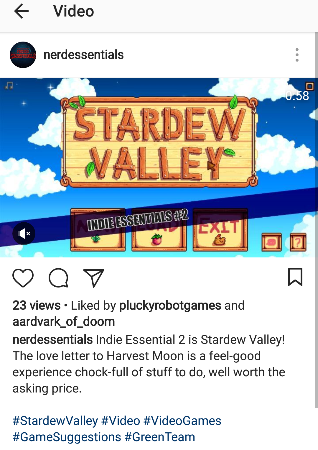 Indie Essentials 2: Stardew Valley is out!